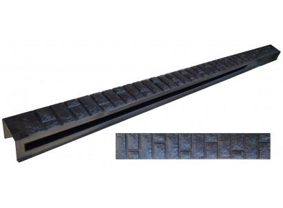 """Форма для столба распашная №18 """"Кирпич фагот"""" с пазами. Размеры 150х135х2850 мм"""