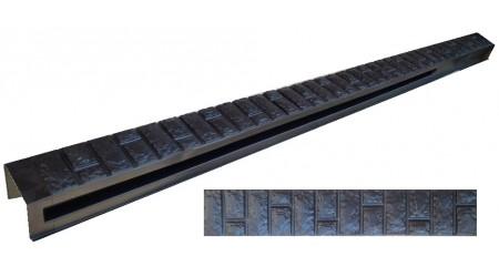 """Форма для столба распашная №33 """"Кирпич фагот"""" с пазами. Размеры 120х120х2200 мм"""