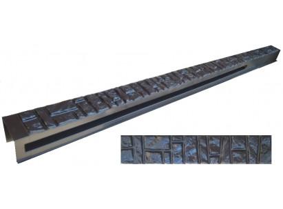 """Форма для столба распашная №14 """"Ломаный кирпич"""" с пазами. Размеры 150х135х2850 мм"""