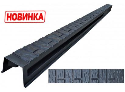 """Форма для столба распашная №36 """"Стара цегла"""" с пазами. Размеры 120х120х2850 мм"""