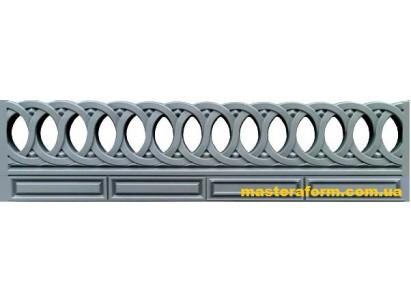 Форма для забора из стеклопластика №50 Размеры: 2000х500х40 мм