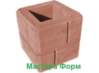Форма столба наборного Кирпич-1 Размеры: 300х300х310 мм