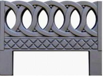 Форма для изготовления оградок №6 Размеры: 800х600х40 мм