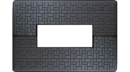 Форма плиты противоусадочной под памятник №6. Размеры 1900х650х50мм, вырез 1000х170мм